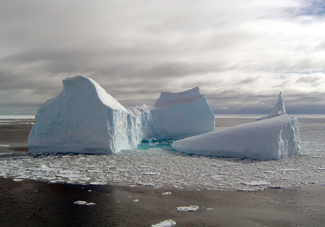 iceberg near antarctica, small and chunky
