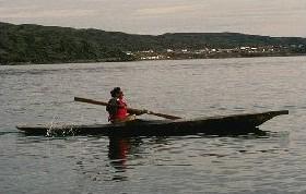 Inuit kayaker