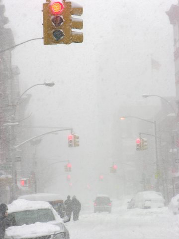 Blizzard in New York City, February 2006