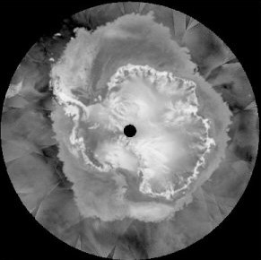 QuikSCAT scatterometer image of Antarctica, 19 July 2003