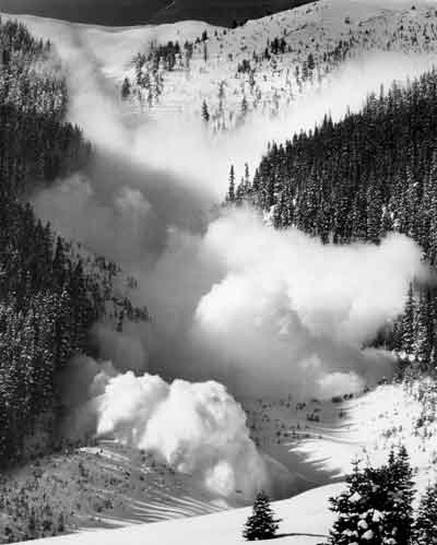 Avalanche in motion