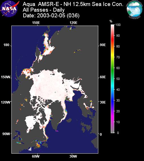 AMSR-E Sea Ice 2003