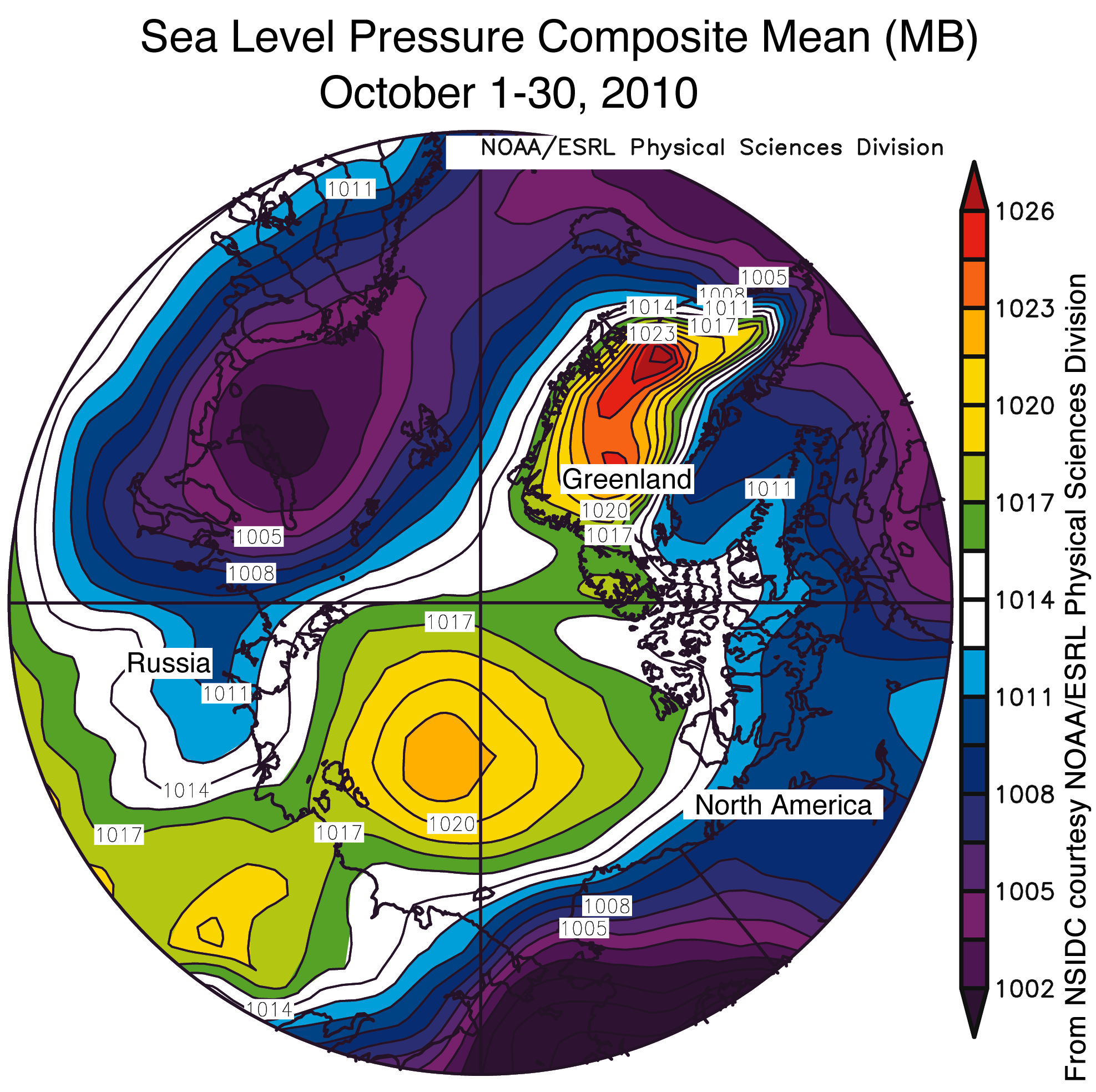 National Weather Map Pressure.Patterns In Arctic Weather And Climate National Snow And Ice Data