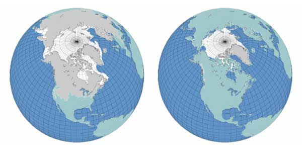 Data image showing monthly snow frequency in the Northern Hemisphere