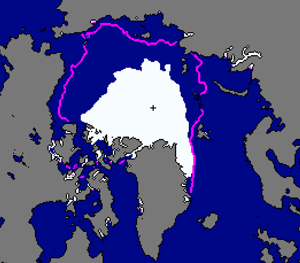 September 2012 sea ice extent from the Sea Ice Index