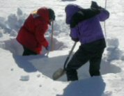 Digging snow pits