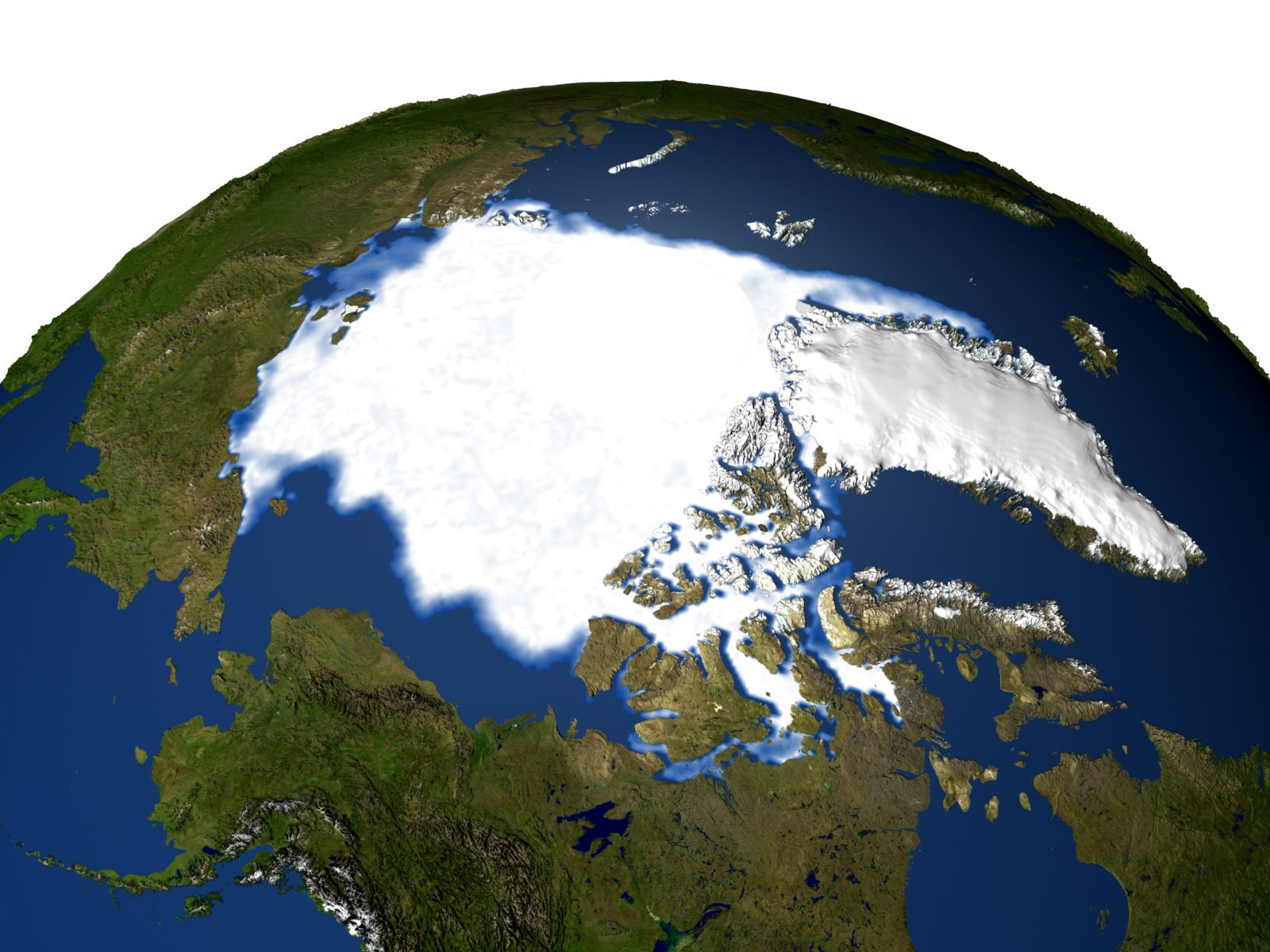Data image showing Arctic sea ice extent in 1979
