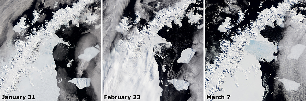 Larsen B Ice Shelf breakup