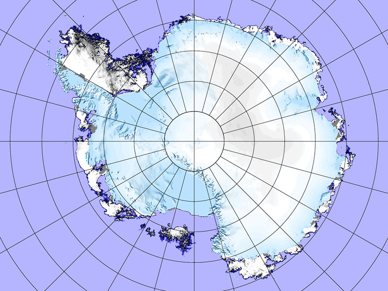 AMSR2 image of the Arctic Ocean