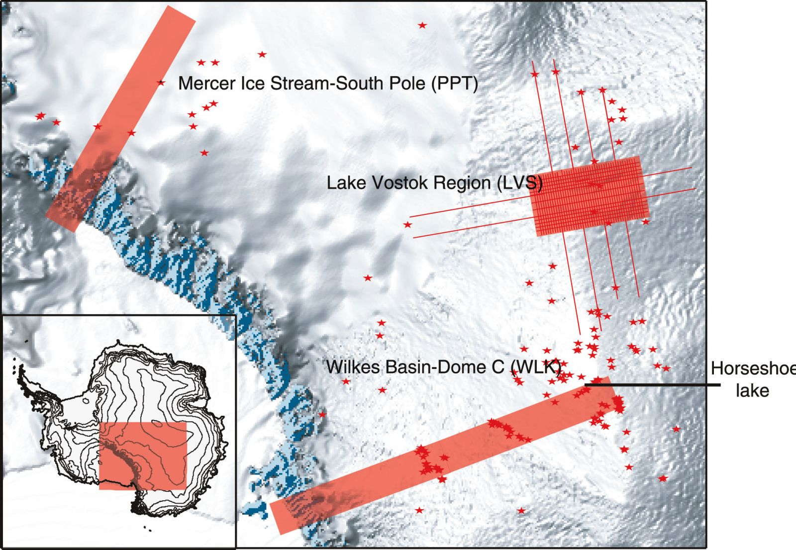 map of coverage, east antarctica