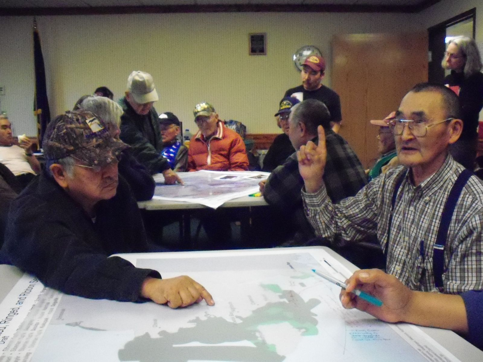 Elders participate in a mapping session