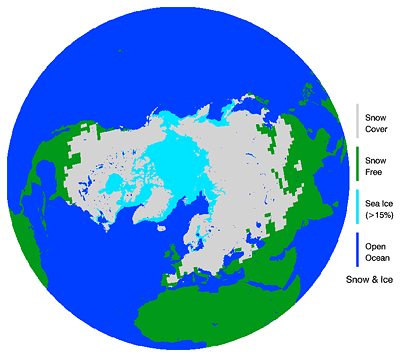 Northern Hemisphere Weekly Snow Cover and Ice Extent, February 8-14, 2010