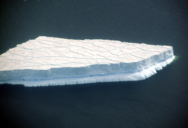 Iceberg with benches