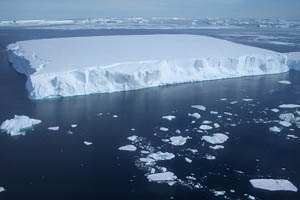 Aerial photo of iceberg