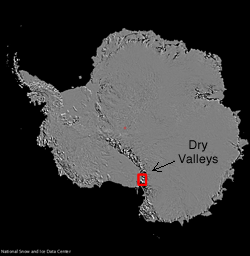 map location of dry valleys