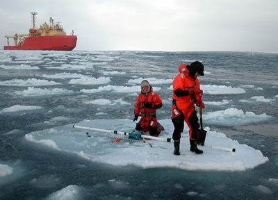 Ice floe measurements
