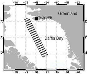 Baffin Bay flight lines