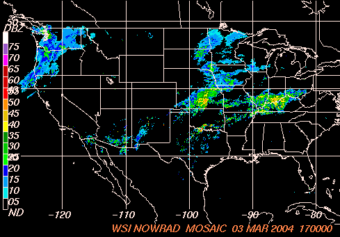 NEXRAD National Mosaic Reflectivity Image