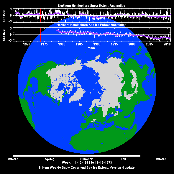 Sample image of snow cover and sea ice extent