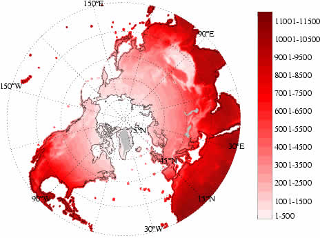 Thawing Index 1901-2001 Climatology