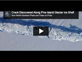 Pine Island Glacier crack seen from the air