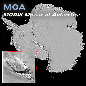 MOA map with inset of Steershead Ice Rise
