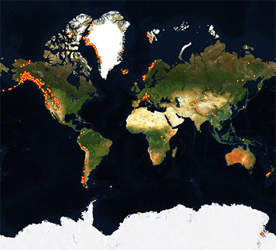 GPC Spatial Coverage Map