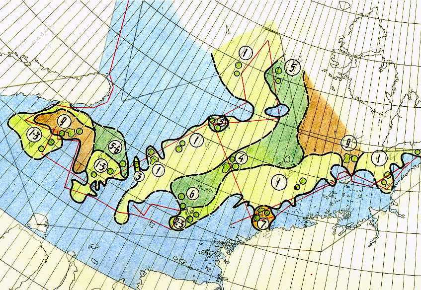 AARI ice chart for the Kara Sea for August 1933