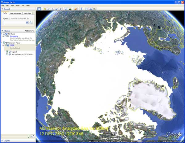 Google Earth Example for 12 December 2010