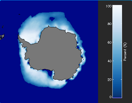 Monthly Climatology of Sea Ice Concentration PNG Sample Data File of the Southern Hemisphere