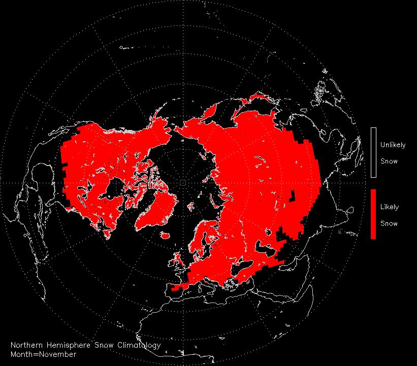 November snow climatology of the Northern hemispere