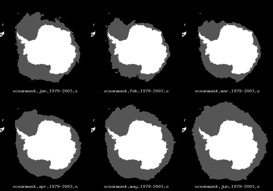 January through June ice climatology of the Southern hemispere