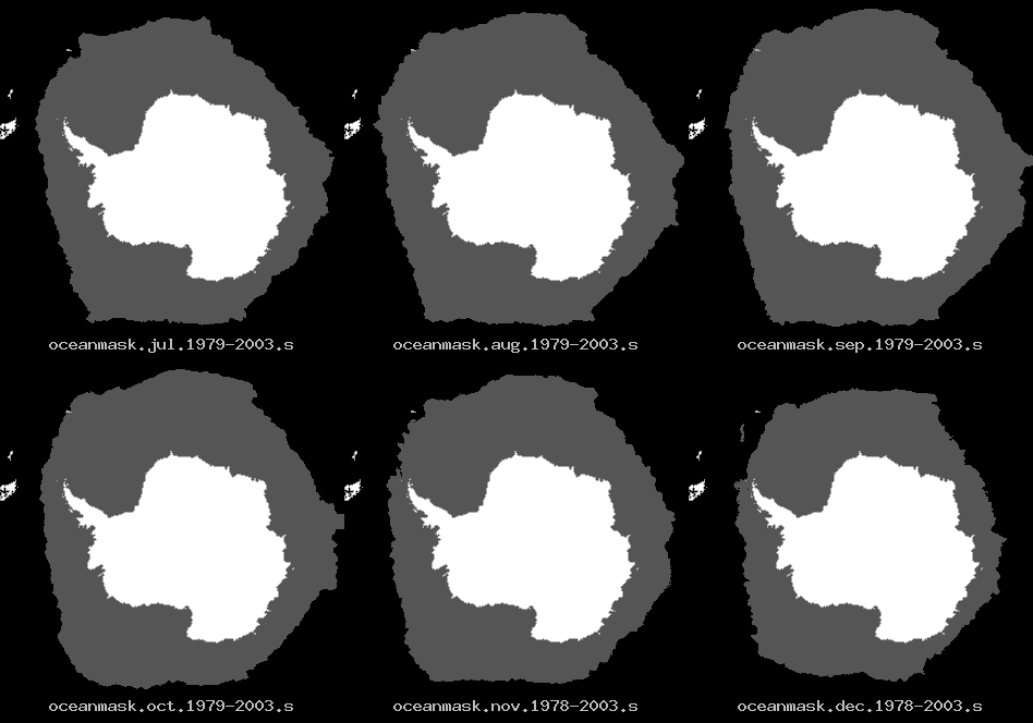 July through December ice climatology of the Southern hemispere
