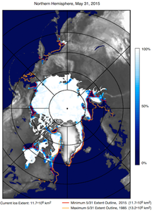 sea ice, SST image