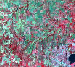 Figure 1: False Color Image of the Oklahoma City Area