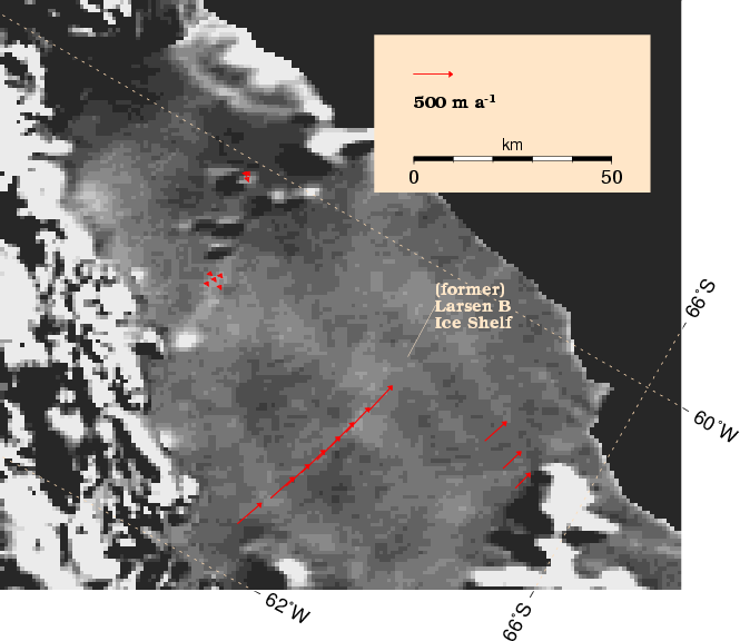 Larsen B Ice Shelf map