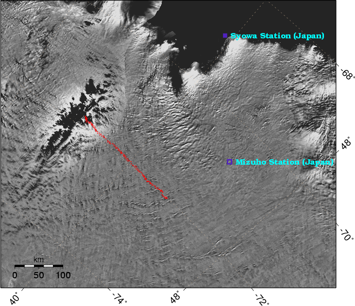Ice Velocities on the Mizuho Plateau