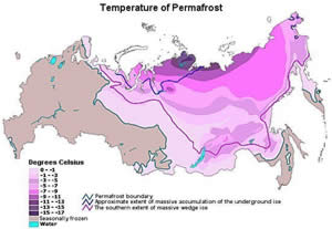 Browse map of Temperature of Permafrost