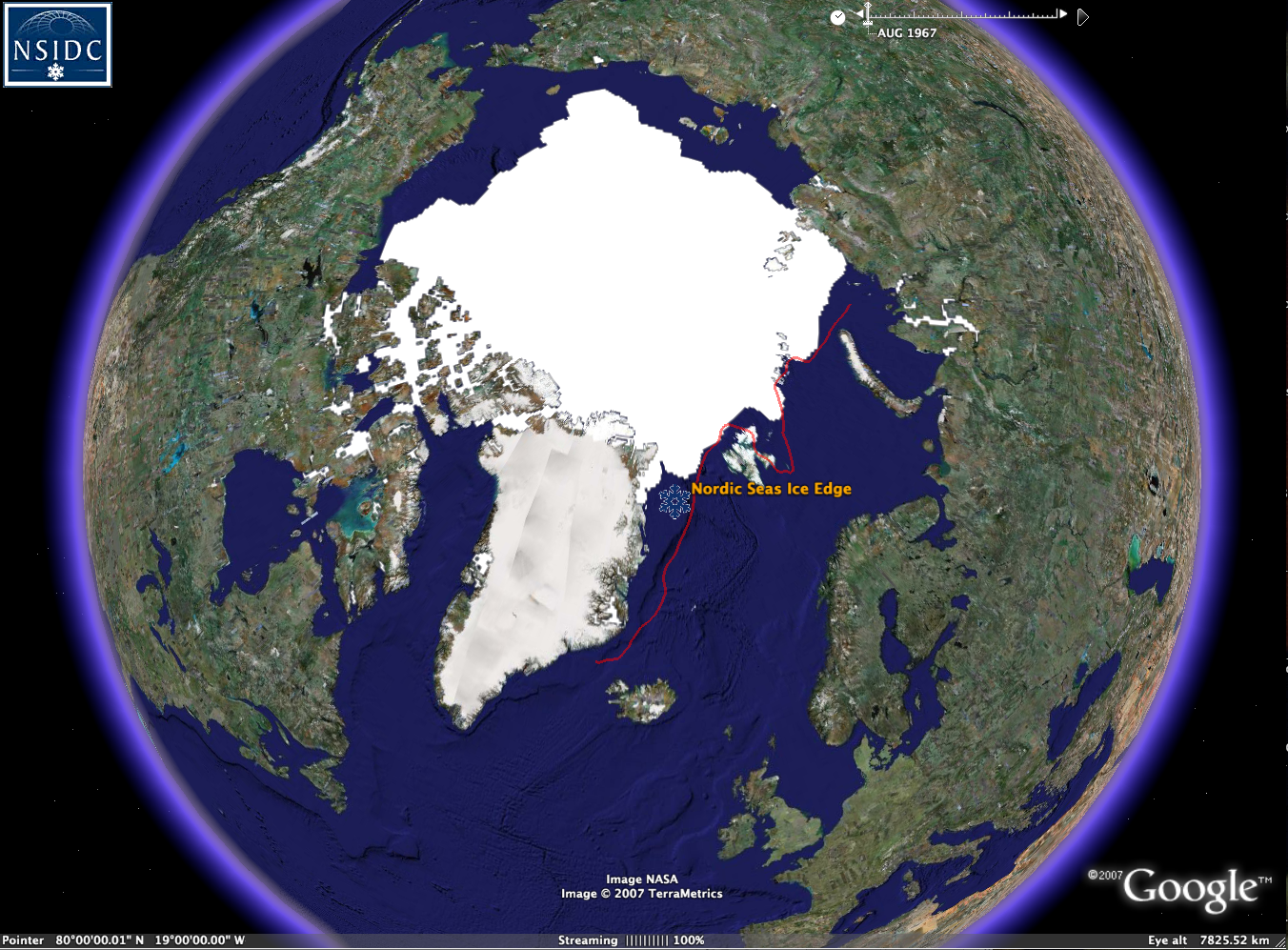 NSIDC Data on Google Earth | National Snow and Ice Data Center