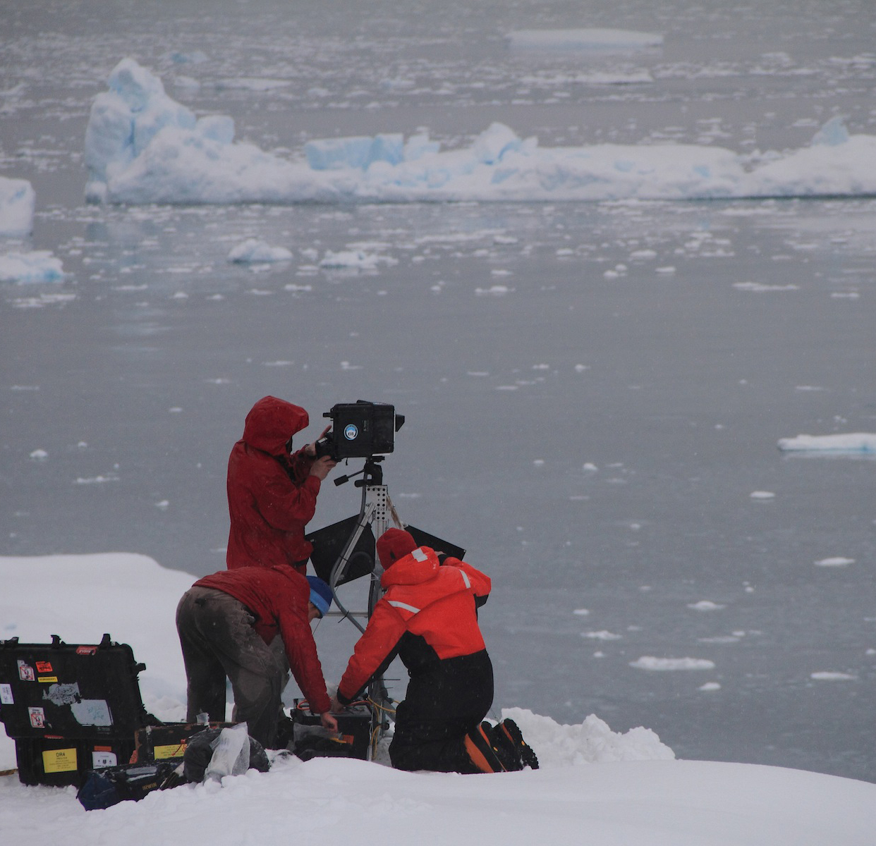 Ted and colleagues install cameras for the Extreme Ice Survey