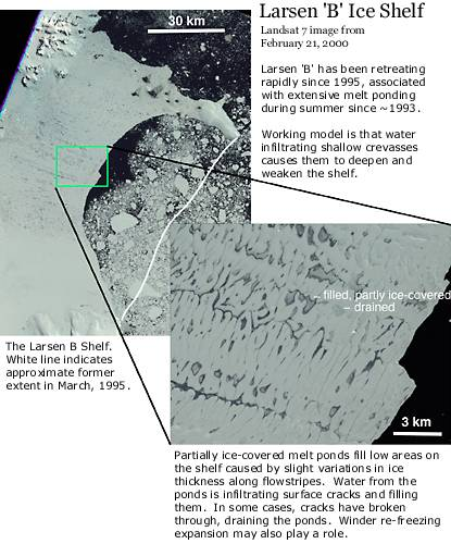 Landsat 7 image of Larsen B ice shelf, February 21, 2000