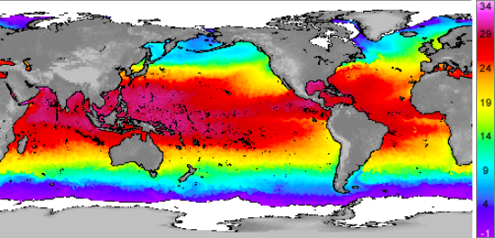 Global sea surface temepratures
