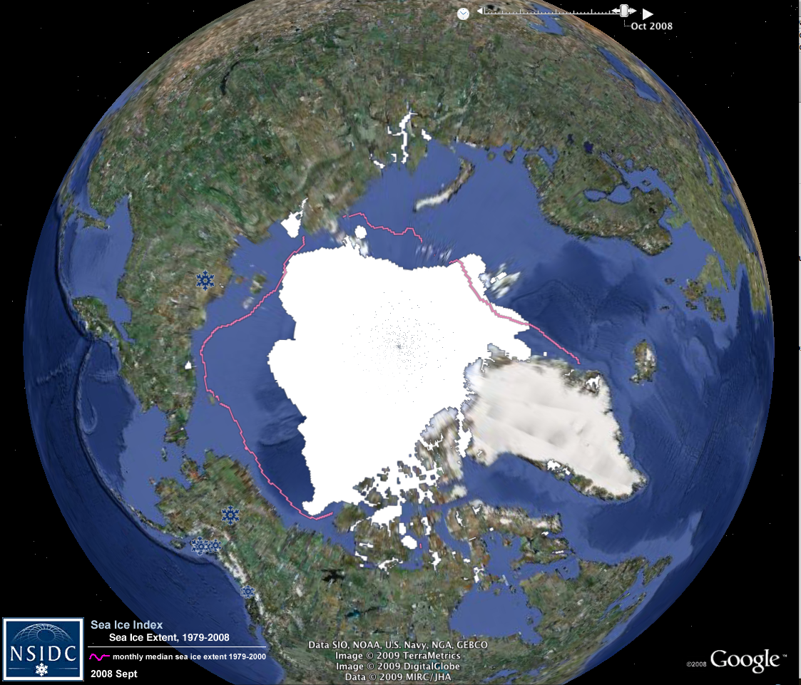 NSIDC Data on Google Earth | National Snow and Ice Data Center on