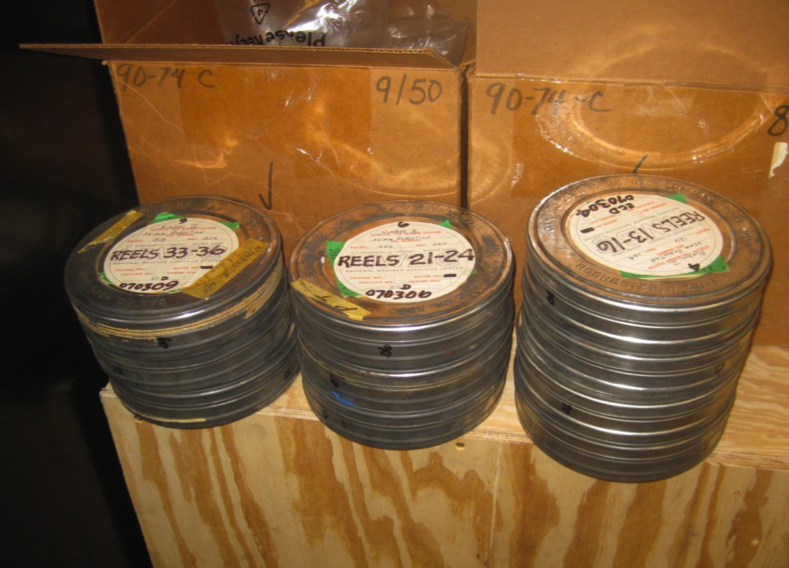National Snow and Ice Data Center acquires dozens of canisters of 35-millimeter film that contain images of the 1964 Artic sea ice minimum and the Antarctic maximum. The images were collected by the Nimbus 1 satellite, which circled the globe from August 28, 1964 to September 23, 1964. Credit: NSIDC