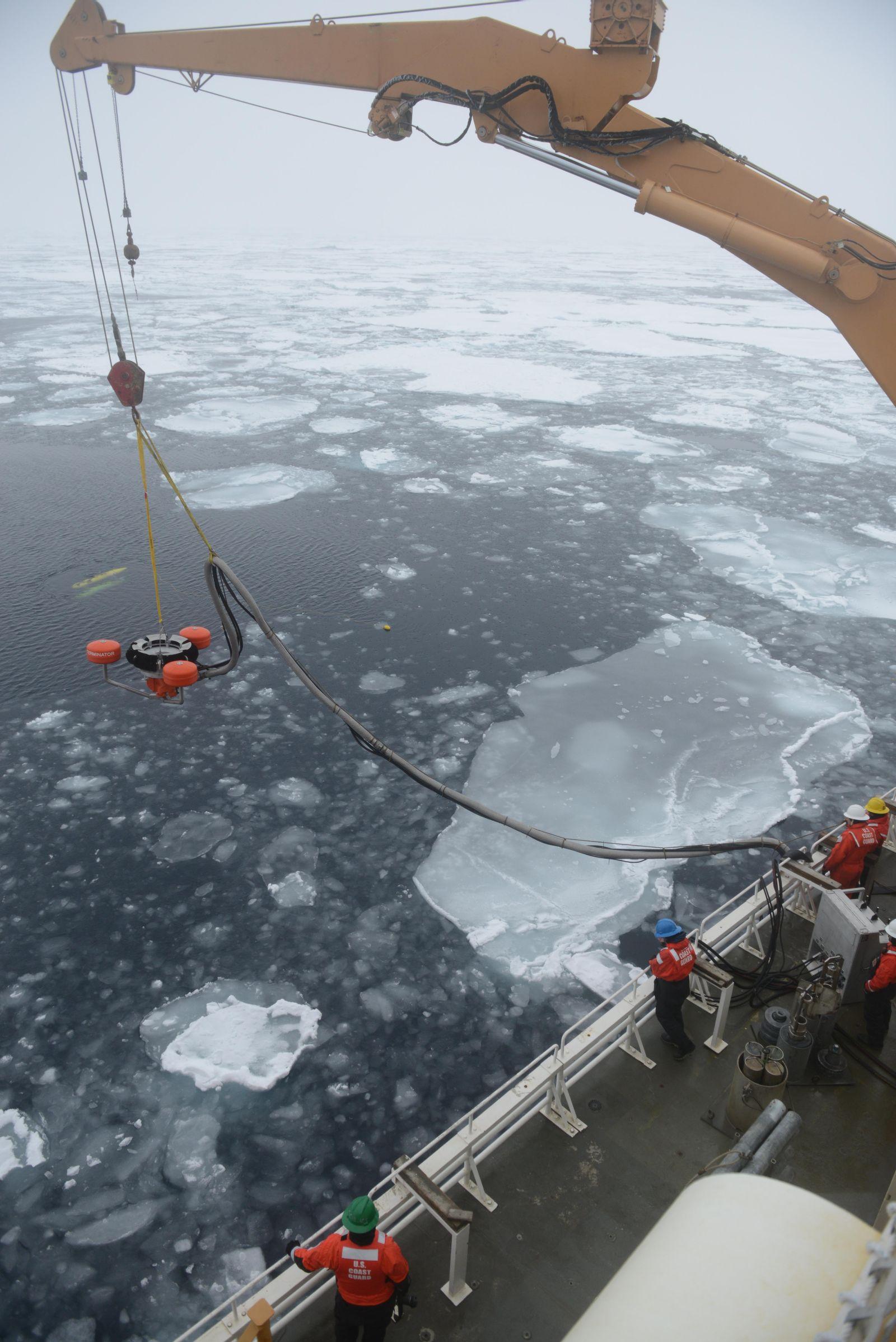Oil spill drill in arctic