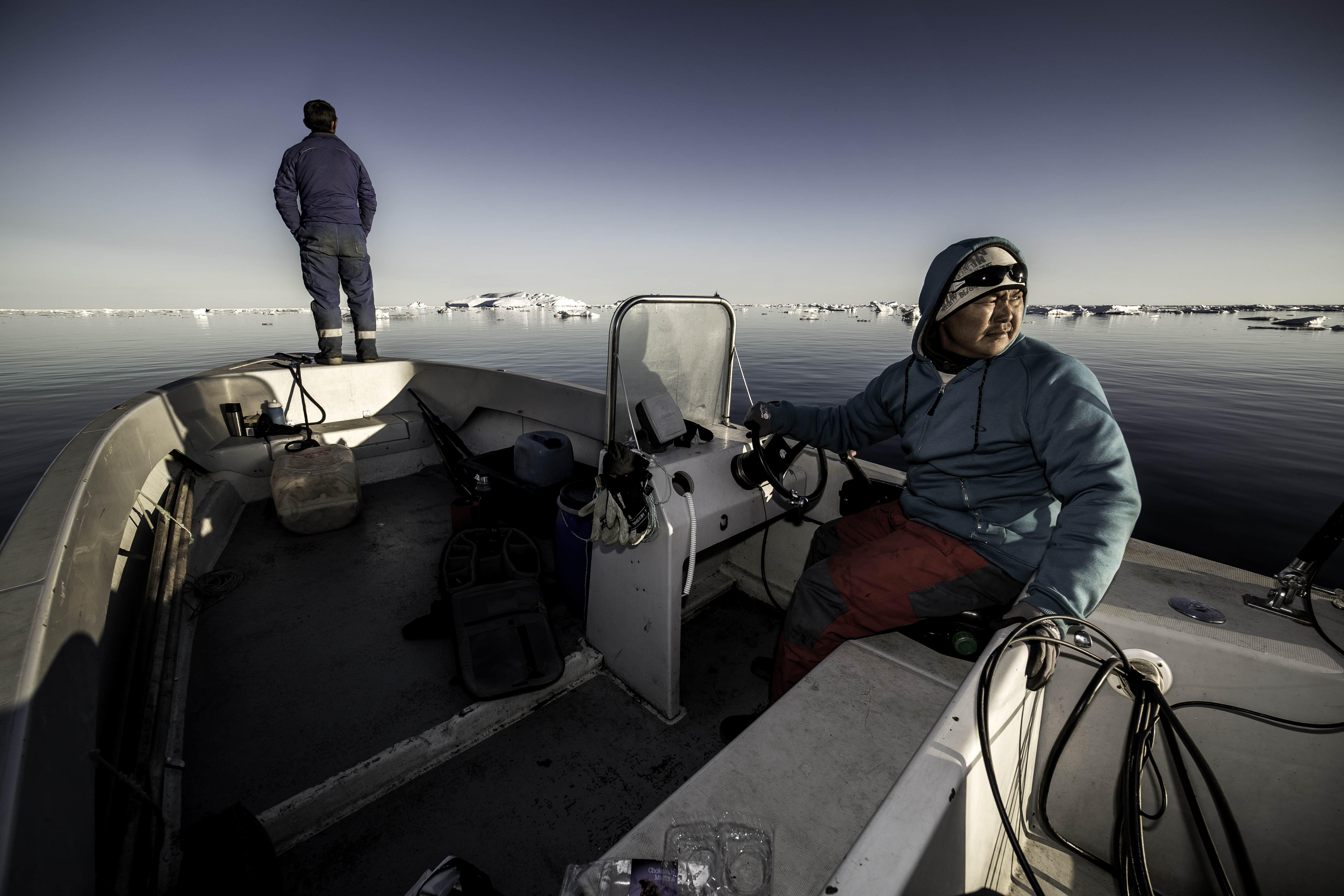 On the eastern side of Northern Greenland, hunters travel out to sea in search of seals. Credit: Visit Greenland-Mads Pihl/flickr