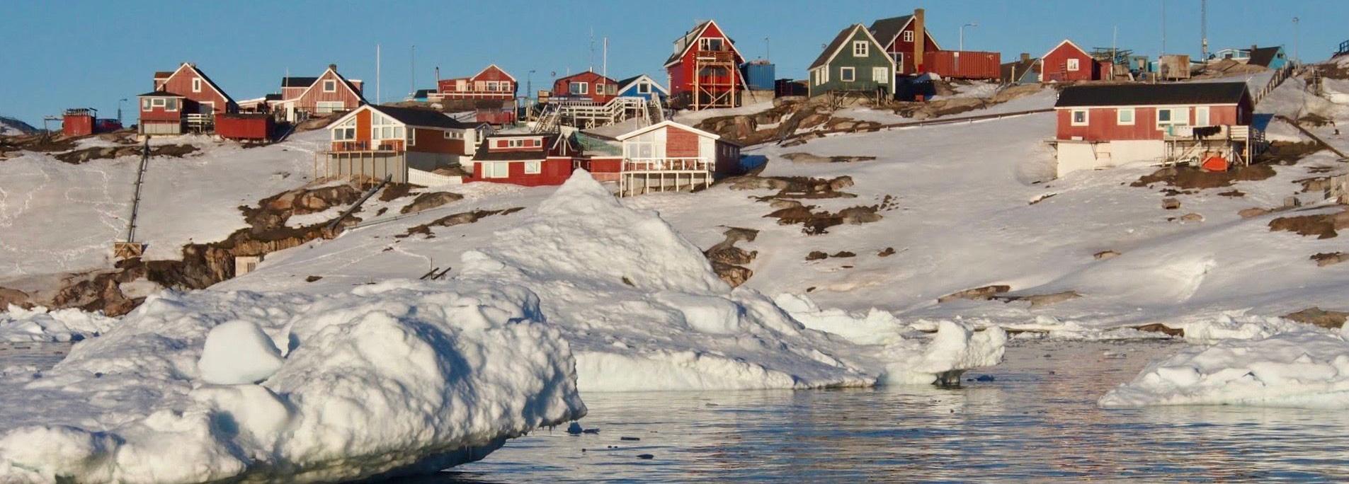 Houses near the Greenland coast