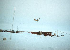 "As a rule, each North Pole camp served as the base camp for the activity of the high-latitude Sever (""North"" in Russian) airborne data collecting expeditions. Image credit: EWG. (<a href=""/cryosphere/gallery/photo/34071"">View photo detail.</a>) <br>"