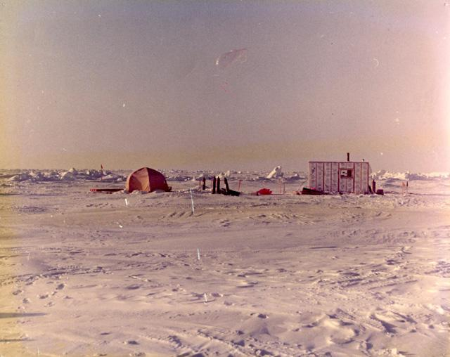 "AIDJEX pilot study 1972 Image Credit:  NSIDC courtesy Tom Marlar/CRREL <a href=""http://nsidc.org/data/aidjex/"">AIDJEX Web site</a> (<a href=""/cryosphere/gallery/photo/33426"">View photo detail.</a>) <br>"