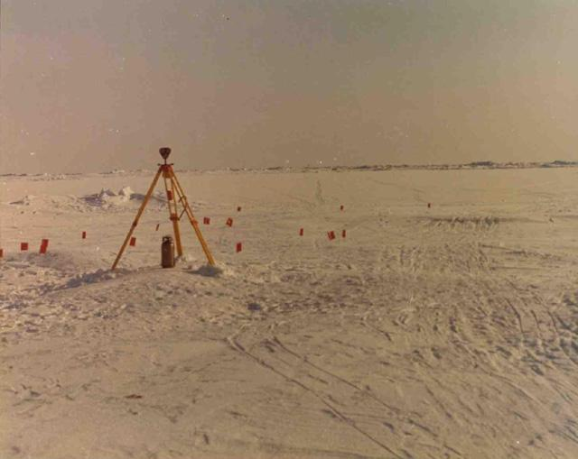 "1972 AIDJEX pilot study. Image Credit:  National Snow &amp; Ice Data Center <a href=""http://nsidc.org/data/aidjex/"">AIDJEX Web site</a> (<a href=""/cryosphere/gallery/photo/33464"">View photo detail.</a>) <br>"